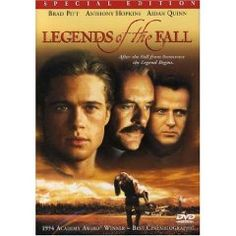 "Legends of the Fall DVD Brad Pitt, Anthony Hopkins, Aidan Quinn, Julia Ormond-"".Stunning cinematography and a star-making turn from Ormond. Aidan Quinn, Julia Ormond, See Movie, Movie Tv, Epic Movie, Epic Film, Movie Info, Old Movies, Great Movies"