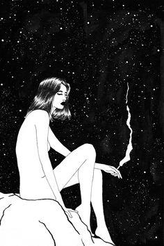 Midnight Cigarette. @sivan.ka