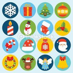 Arte vectorial : Christmas icons set