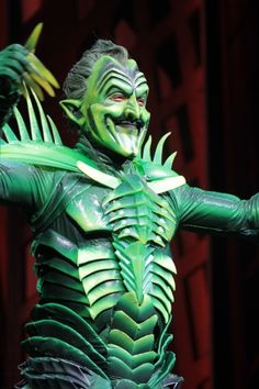"Close up of the Green Goblin from ""Spider-Man Turn Off The Dark"" (Broadway 2011)"