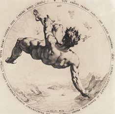 Hendrick Goltzius after Cornelis Cornelisz van Haarlem: Phaeton, from the series The Four Disgracers (The Metropolitan Museum of Art) Icarus Tattoo, Art Sketches, Art Drawings, Städel Museum, Art Du Croquis, Mythology Tattoos, Google Art Project, Greek Mythology, Figure Drawing