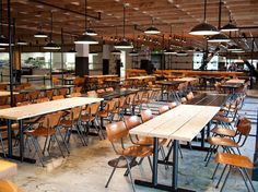Facebook's Cafeteria, By The Masters Of Rustic Chic, Roman & Williams