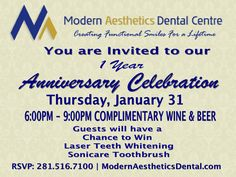 Join us for our 1 year anniversary celebration! Jan 31 @ 6:00pm