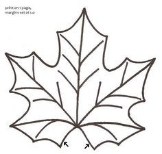 free Leaf printable pattern | Thread: Maple Leaf Mug Rugs - Pictorial Tutorial & Pattern