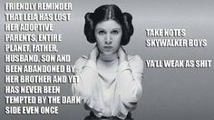 Woman's power Star Wars style