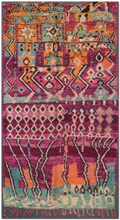 100 Beautiful Moroccan Boucherouite Rugs for Your House Diy Carpet, Rugs On Carpet, Moroccan Carpet, Modern Moroccan, Morrocan Decor, African Rugs, Boucherouite, Tapis Design, Art Textile