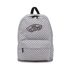 Vans Printed backpack ($34) ❤ liked on Polyvore featuring bags, backpacks, vans backpacks, flower backpack, polka dot backpack, day pack backpack and backpack bags