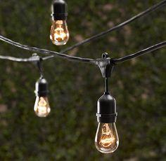 16 Zwiebeln Jahrgang Patio String Lights schwarz Cord Klarglas Edison Lampen von LeeDisplaywest auf Etsy https://www.etsy.com/de/listing/225832303/16-zwiebeln-jahrgang-patio-string-lights