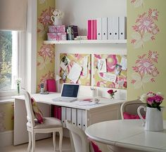home office decorada  Decoração para Home Office