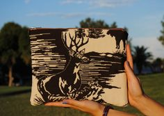 Retro deer iPad case by FloatingChairs on Etsy, $28.00