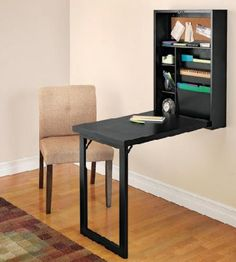 Fold-Out Convertible Desk via Solutions Dot Com
