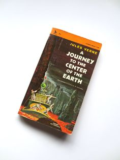 Jules Verne A Journey to the Center of the Earth Vintage Paperback Book 1965 Airmont Jackpot Jen by JackpotJen on Etsy Jules Verne Books, Cool Books, Paperback Books, Book Publishing, Small Businesses, Etsy Vintage, More Fun, Cool Art, At Least