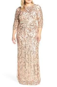 Find Mac Duggal Beaded Evening Dress (Plus Size) online. Shop the latest collection of Mac Duggal Beaded Evening Dress (Plus Size) from the popular stores - all in one Plus Size Gowns, Dress Plus Size, Evening Dresses Plus Size, Plus Size Outfits, Mob Dresses, Women's Fashion Dresses, Dresses With Sleeves, Bride Dresses, Formal Dresses