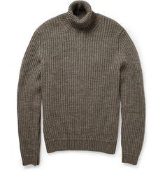 GucciRibbed Wool-Blend Rollneck Sweater|MR PORTER