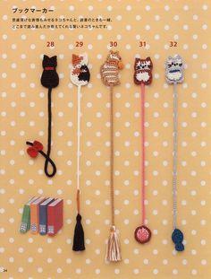 Crochet Bookmark Pattern, Crochet Cat Pattern, Crochet Bookmarks, Crochet Cross, Crochet Home, Crochet Patterns, Paper Bookmarks, Kawaii Crochet, Cute Crochet