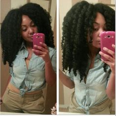 New hair! #nolye #naturalhair #naturalgirlsrock #teamnatural #teamnaturalhair #curlygirlsrock  (at www.kurleebelle.com)