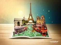 Travel Guide by Maria Datei, via Behance