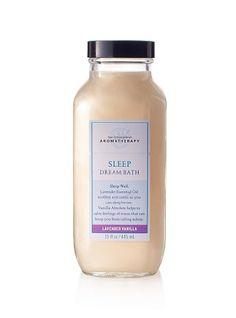 Bath & Body Works Aromatherapy Lavender Vanilla Sleep Dream Bath 15 oz Bath & Body Works.  No longer sold in Stores. http://www.amazon.com/Bath-Body-Works-Aromatherapy-Lavender/dp/B001XQK7BW/ref=sr_1_24?m=A114766GYOFPA1&s=merchant-items&ie=UTF8&qid=1385846089&sr=1-24&keywords=aromatherapy