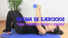 Rutina de ejercicios para pecho y tríceps.