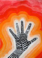 arteascuola: Zentangle hand on a value background
