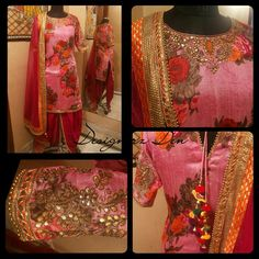 Florals anyone!? Seen here is a dhoti salwar suit in