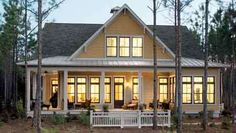 i just want a house on some land.. Love this style.. Wrap around porch, windows, country. Perfect!