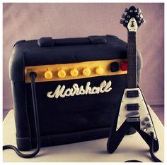 Marshall Amp & Flying V Guitar Birthday Cake by Andrea Hillman, via Behance