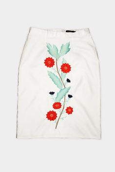 Skirt linen embroidery.