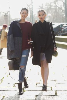 MFW FW14 Street Style by Melodie Jeng (models.com)