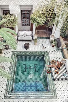 M is for Escape to Marrakech Ohh Couture's Leonie Hanne shares a poolside vacation snapshot from Marrakech… Photograph via Ohh Couture