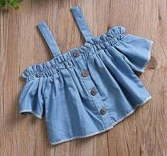 Lace white top self belt skirt sets – Artofit Baby Girl Dress Patterns, Dresses Kids Girl, Baby Dress, Baby Girl Fashion, Kids Fashion, Iranian Women Fashion, Cute Outfits For Kids, Clothes, Denim