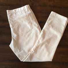 """J. Crew Toothpick Corduroys Cream color J.Crew Toothpick style corduroy pants. 30"""" inseam. Never worn, still have the plastic tag holder, the tag is gone though. J. Crew Pants"""