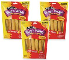 24-Count Dingo Wag'n Wraps Slims, (3 Packs with 8 Chicken Slims per Pack) * Check this awesome product by going to the link at the image. (This is an affiliate link and I receive a commission for the sales)