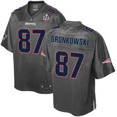 Rob Gronkowski New England Patriots Pro Line Super Bowl LI Champions Stronghold Fashion Jersey - Gray - $59.99