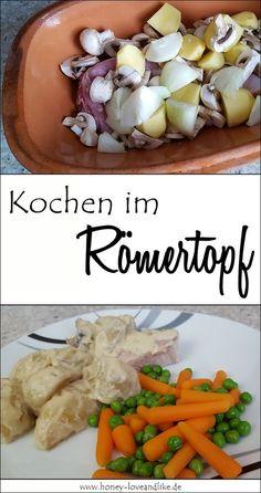 Römertopfessen Super fast: pork fillet, potatoes and mushrooms in a Roman pot Although it may seem a Carb Free Recipes, Paleo Recipes, Baked Chicken Nuggets, Pork Fillet, Pots, Healthy Grains, Meal Prep Bowls, Shrimp Recipes, Yummy Snacks