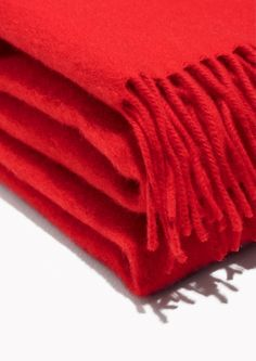 & Other Stories  Oversized Wool Scarf in Red