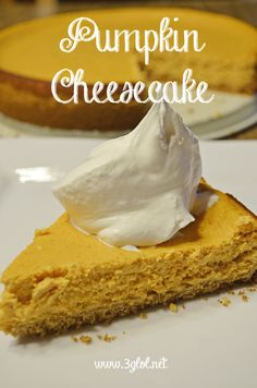 Pumpkin Cheesecake. Classic, basic and easy to make cheesecake. Great dessert for Fall OR the holidays.