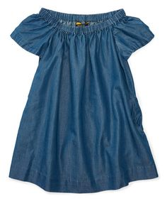 Ralph Lauren Indigo Chambray A-Line Dress - Toddler & Girls | zulily