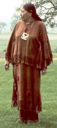 """Nora Thompson Dean - (1907–1984), also known as Weenjipahkihelexkwe, which translates as """"Touching Leaves Woman"""" in Unami, was a member of the Delaware Tribe"""