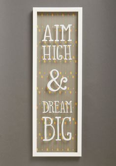 Everyday Encouragement Wall Decor. You cant help but be inspired every time you glance at this quotable decoration on your wall! #multi #modcloth