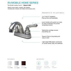Laguna Brass Centerset Bathroom Faucet
