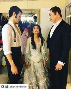 """Christine: """"Please, play nice boys!"""" Raoul: """"Ha! He's the one that started it."""" Phantom: """"My dear Christine, we both know that will never happened."""""""