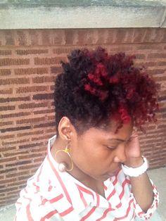 I want this Red Short Natural Hair Cut! Tapered Natural Hair, Be Natural, Tapered Twa, Going Natural, Short Natural Styles, New Hair Do, Afro Hairstyles, Haircuts, Sassy Hair