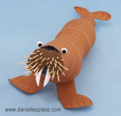 Walrus cup and water bottle craft for kids