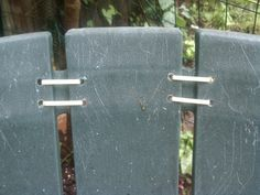 I wish I had thought of this – but when originality fails – plagiarize. I have been trying to figure out how to repair these plastic Adirondack chairs for quite a while and even been … Outdoor Plastic Chairs, Recycled Plastic Adirondack Chairs, Outdoor Chairs, Outdoor Seating, Hanging Swing Chair, Hanging Chair From Ceiling, Swinging Chair, Outside Umbrellas, Kids Adirondack Chair