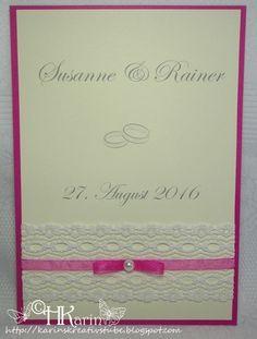 """Karins Kreativstube: Einladungen Hochzeit """"Susanne & Rainer"""" pink Blog, Pink, Cover, Winter, Invites Wedding, Wedding Bride, Cards, Creative, Love"""