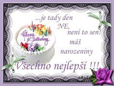 Přání k narozeninám   Krásné narozeniny ! Birthday Cake, Facebook, Anna, Birthday Cakes, Cake Birthday