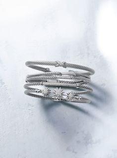 Love these bracelets by David Yurman <3