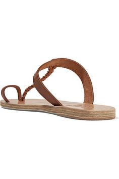 Ancient Greek Sandals - Melpomeni Braided Leather Sandals - Brown - IT36