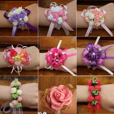 Determining Who Wears Flowers At Wedding For The Best Planning – Bridezilla Flowers Wrist Corsage Wedding, Bridesmaid Corsage, Wrist Flowers, Prom Flowers, Handmade Rakhi Designs, Rakhi Making, Diy Arts And Crafts, Flower Patterns, Boutonnieres